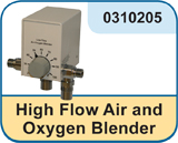 High Flow Air and Oxygen Blender